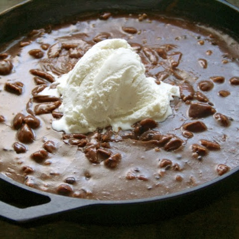 Warm Chocolate Skillet Cake