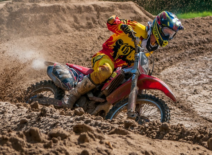 Deep in the Mud by Lynn Wiezycki - Sports & Fitness Other Sports ( motocross, dade city motocross, motorcycle )