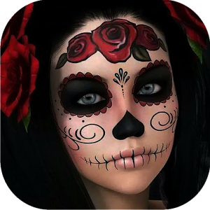 Day of the Dead Skull Makeup For PC