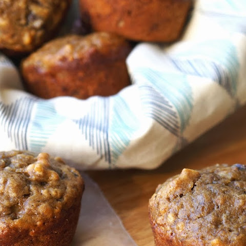 Banana Bread Muffins with Chocolate Chips & Walnuts