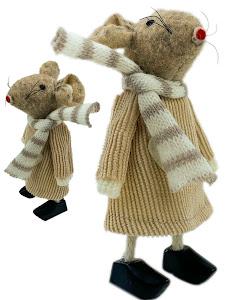 """Игрушка мягконабивная плюшевая """"Мышка 11см"""", бежевая"""
