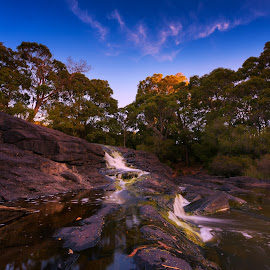 Creek by Greg Tennant - Landscapes Waterscapes ( waterfall, creek )