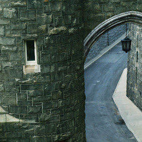 Arch at West Point by Stephanie Seward - Buildings & Architecture Public & Historical ( united states military academy, arch, west point, grey, light, cadet )