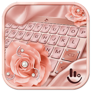 Pink Rose Gold Diamond Drops Keyboard Theme For PC / Windows 7/8/10 / Mac – Free Download
