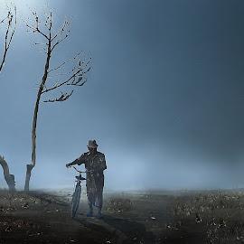 Foggy by Irwan Setiawan - Digital Art People ( digitalart, centraljava, indonesia, landscape )