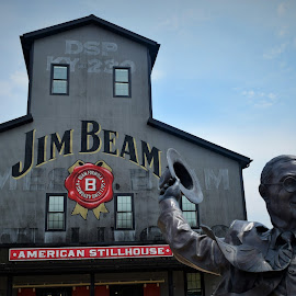 Jim Beam by Lorna Littrell - Buildings & Architecture Statues & Monuments ( bourbon, statue, bourbon trail, distillery, kentucky )