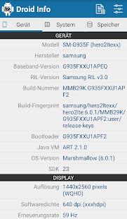 Droid Hardware Info Screenshot