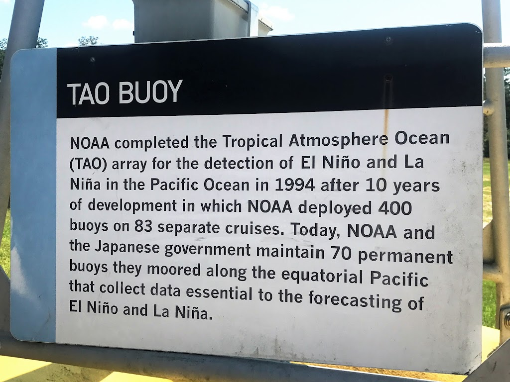 NOAA completed the Tropical Atmosphere Ocean (TAO) array for the detection of El Niño and La Niña in the Pacific Ocean in 1994 after 10 years of development in which NOAA deployed 400 buoys on 83 ...