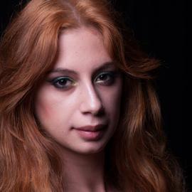 Red Head by Myra Brizendine Wilson - People Fashion ( model, female, photography studio, female model, beautiful model )