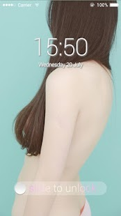 Applock Theme  Mint Girl - screenshot