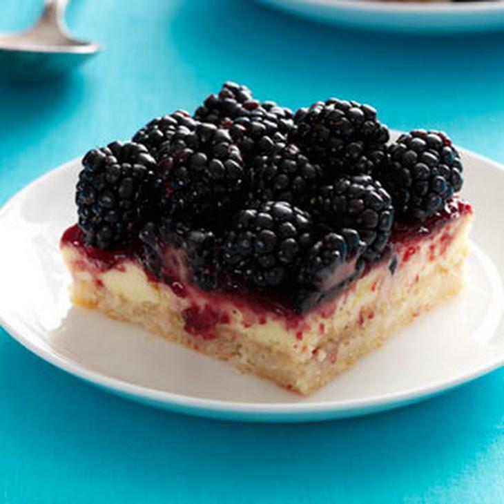 Blackberry Cheesecake Bars Recipe | Yummly