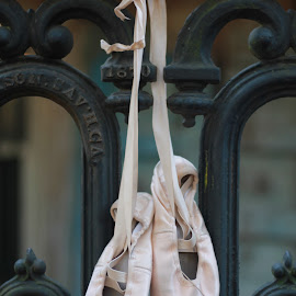 Pointe by Stacy Mason-Howard - Novices Only Objects & Still Life ( hanging, pointe shoes )