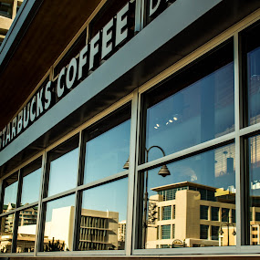 by John Shelton - Buildings & Architecture Other Exteriors ( reflection, reno, window, nevada, starbucks,  )