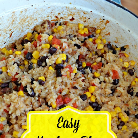 Easy Mexican Rice Casserole Recipe with Black Beans Sausage and Corn