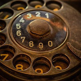 Turn around The Clock by Marco Bertamé - Artistic Objects Other Objects ( old, vintage, round, telephone, dial plate )