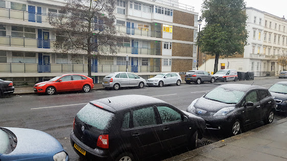 First snowfall in London