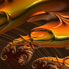 Bright Brown by Capucino Julio - Illustration Abstract & Patterns ( abstract, pattern, bright, brown, fractal )