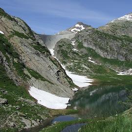 by Serguei Ouklonski - Landscapes Mountains & Hills ( water, mountain, ticino, cevio, lake, rock, landscape )