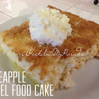 Pineapple Angel Food Cake Lowfat