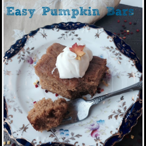 Easy Pumpkin Bars with Cream Cheese Frosting