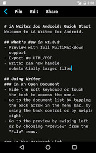 iA Writer Screenshot