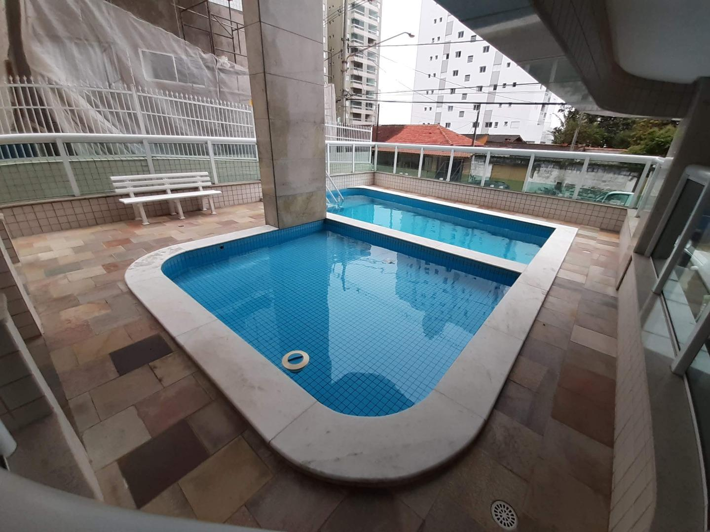 Apartamento 01 dormitório com suíte, churrasqueira na sacada, Aviação, Praia Grande