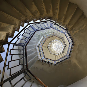 spiral staircase by Alessandra Antonini - Buildings & Architecture Other Interior ( interior, detail, stairs, staircase, architectural, architecture, steps, spiral, wall )
