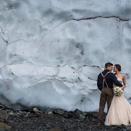 It all melts away by Kate Gansneder - Wedding Bride & Groom ( winter, seattle, ice, wedding, northwest, couple, elopement, bride, groom )