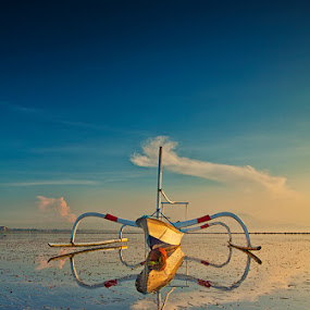 The Boat by Gede Agus Swanjaya - Landscapes Waterscapes