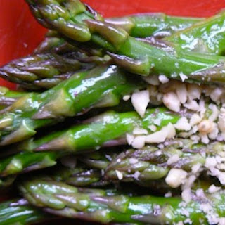 Warm Asparagus Spears with Pine Nuts
