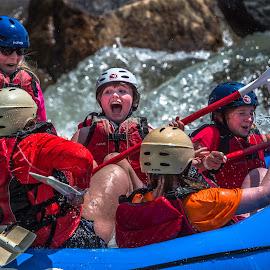 I am Having Fun by Mike Watts - Sports & Fitness Watersports ( girl, fun, raft, rafting, whitewater )