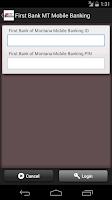 Screenshot of First Bank MT Mobile Banking