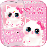 Cute kitty theme Pink Icon
