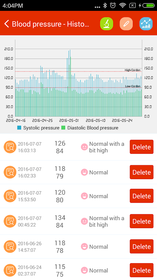 iCare Blood Pressure Pro Screenshot 5