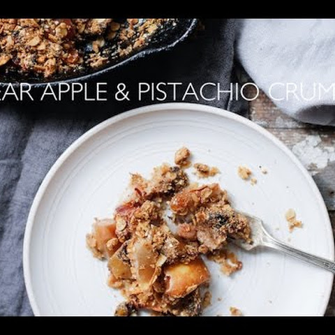 Pear Apple & Pistachio Crumble