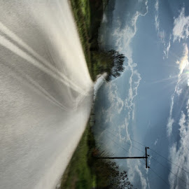 to somewhere by Andreas Batzilis - Landscapes Travel ( car, sky, summer, cloud, travel, road, dizzy, sun, shiny )
