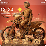 Off-road motorcycle theme Icon