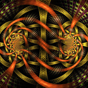 Lines gold by Marco Caciolli - Digital Art Abstract ( pwclines-dq )