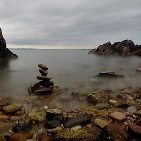 Rocks by Jozef Svintek - Landscapes Sunsets & Sunrises ( clouds, sunset, sea, rock, seascape )