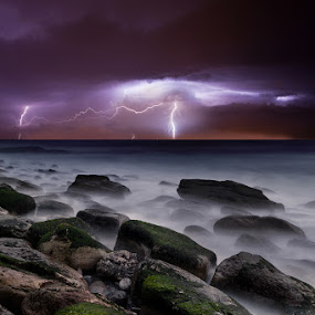 Nature's splendor by Jorge Maia - Landscapes Weather ( thunder, water, lightning, waterscape, rocks )