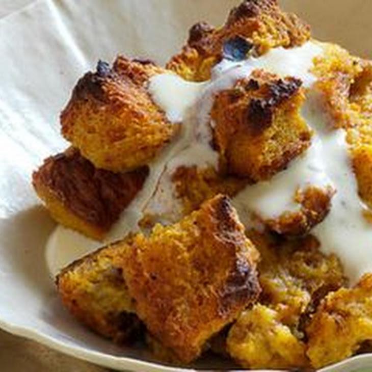 Bread Pudding With Vanilla Custard Sauce Recipe — Dishmaps