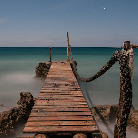 El paso by Inma  Monte Picante - Landscapes Waterscapes ( ibiza, cala d'hort, long exposure, beach, pont,  )