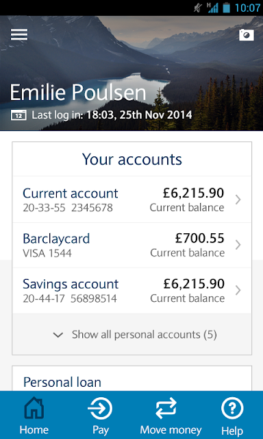 Barclays Mobile Banking screenshots