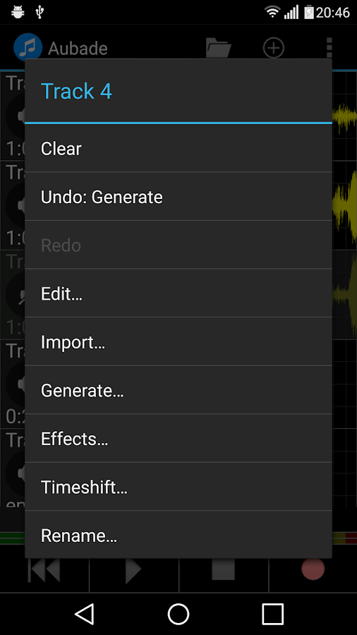 Aubade Audio Studio Screenshot 1
