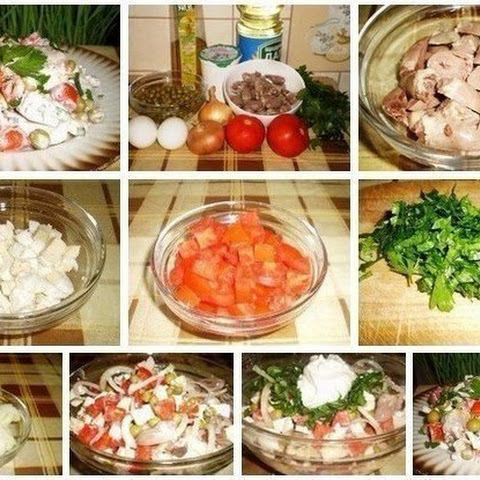 Salad Of Chicken Hearts — A Light And Tasty Delicacy