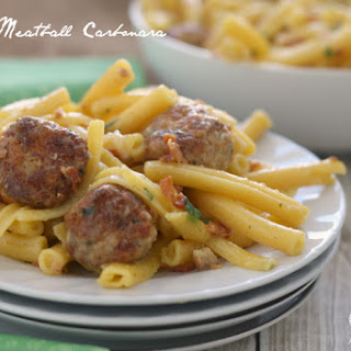 Salmon Meatball Carbonara