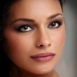 Mira 3 by Samir Zahirovic - People Portraits of Women ( #eyes, #lips, #portrait, #beauty, #woman, #face, #girl )