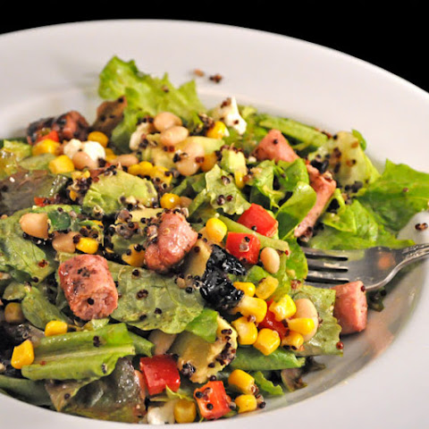 Southwestern Salad with Grilled Sausages