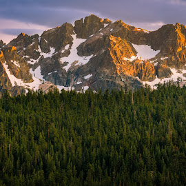 Sierra Buttes North at Sunset 4 by John Rourke - Landscapes Mountains & Hills ( 2017, california, sunset, sierra mountains, u.s.a., sierra buttes north )