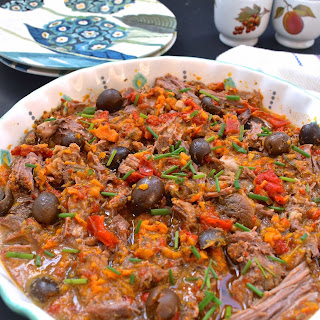 Slow Cooker Sweet Potato and Black Olive Beef Roast (Low FODMAP, Paleo, Gluten Free)